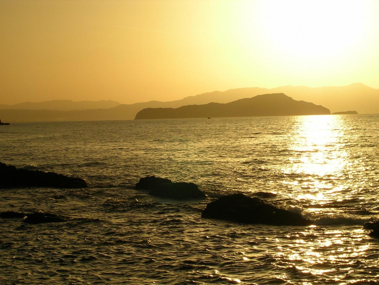 coucher de soleil Crète