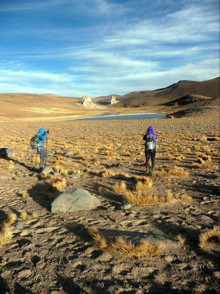 Trek altiplano Bolivie canyons
