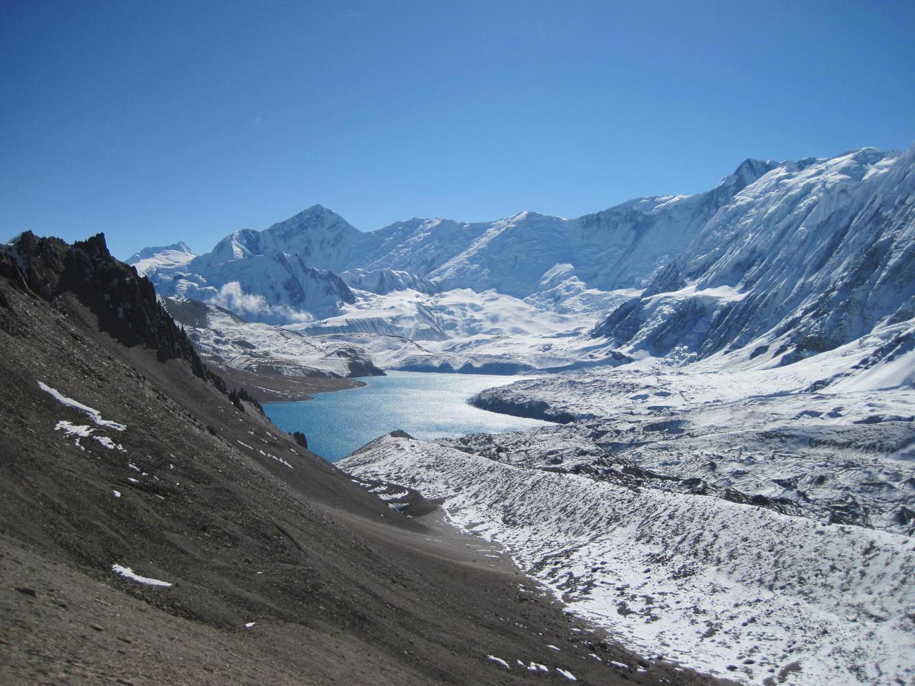 Tilicho depuis col de Mesokanto, Nepal - Jean-Luc Moreau