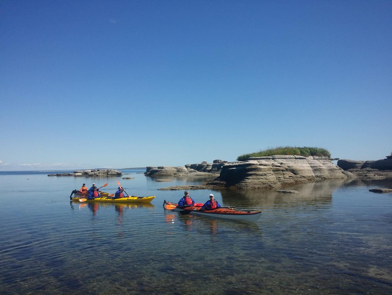 excursion noryak camp de base kayak