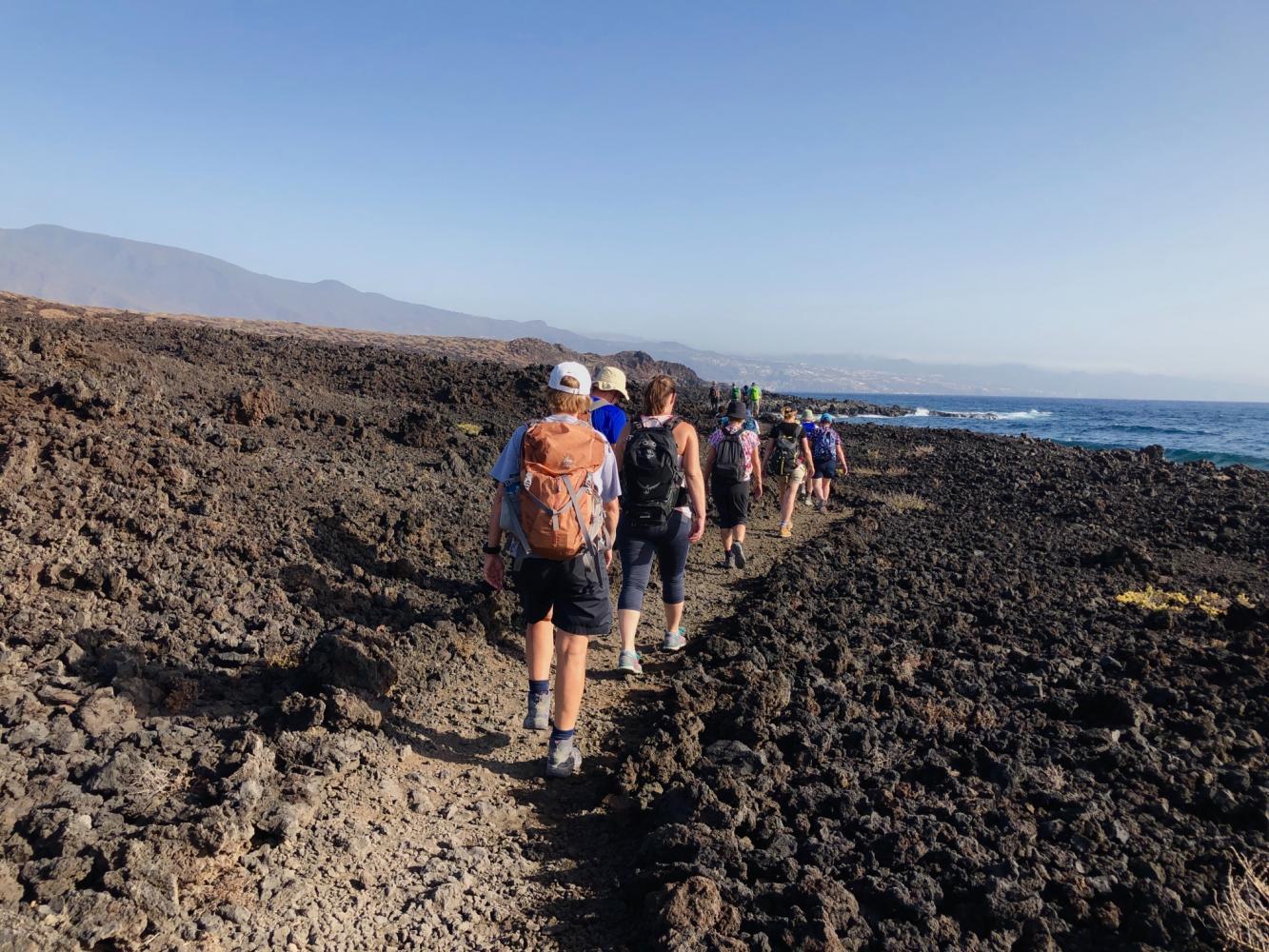sentier bord de mer randonnée île