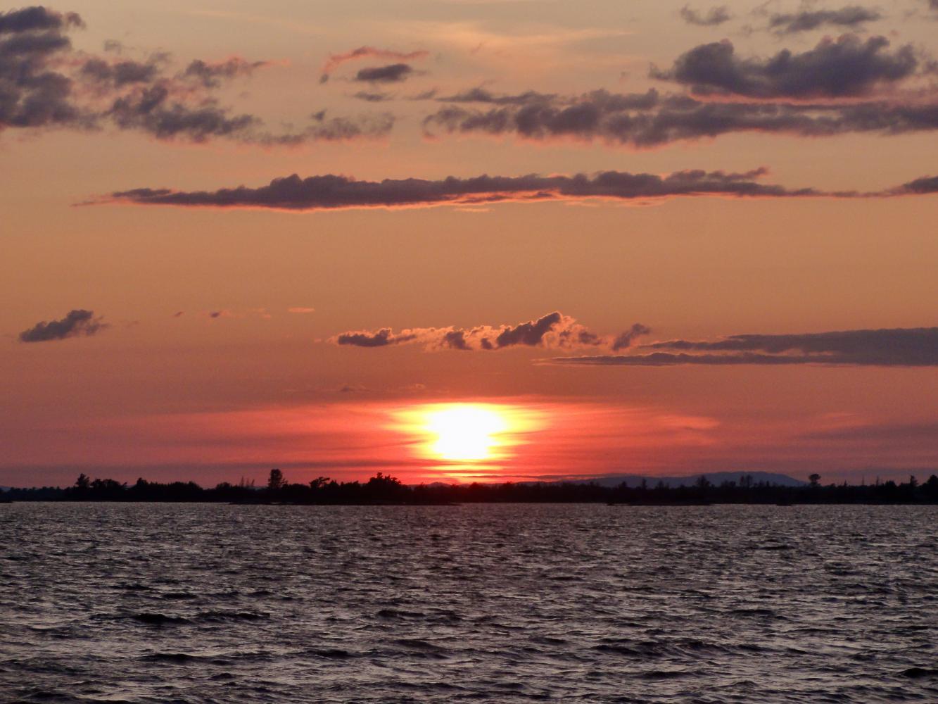coucher de soleil baie georgienne