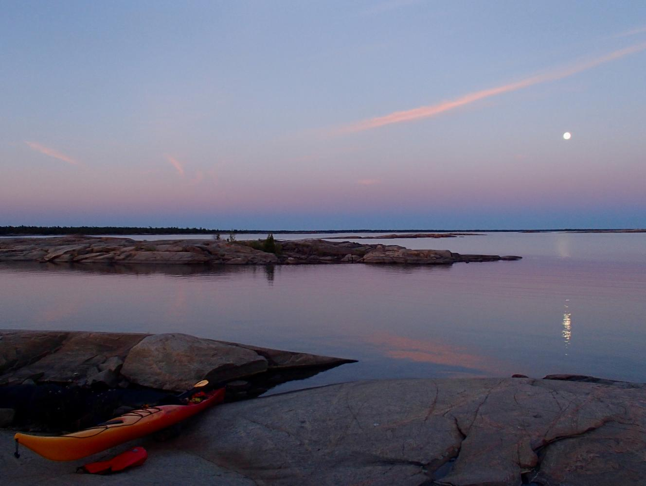 coucher de soleil lever de lune
