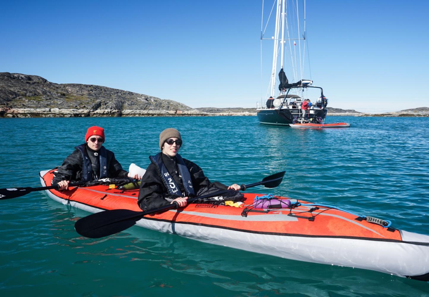 kayak de mer voilier