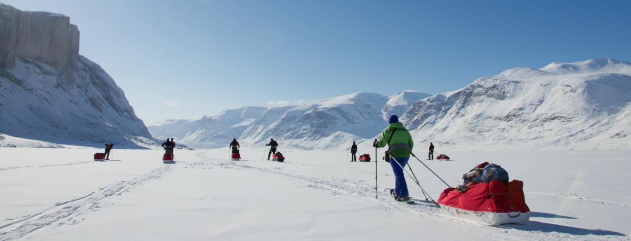 © Randonnée ski et raquettes à neige Baffin