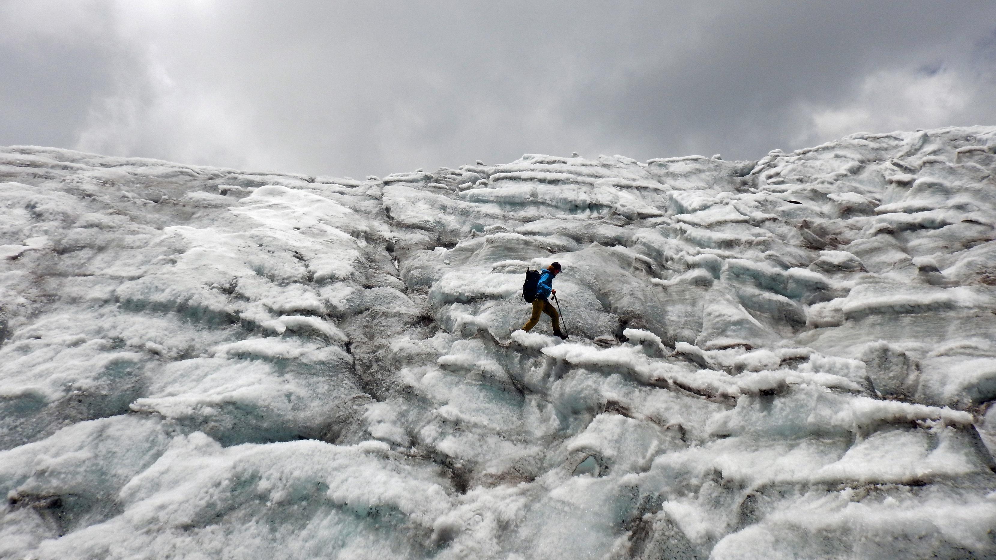 © glacier andes bolivie