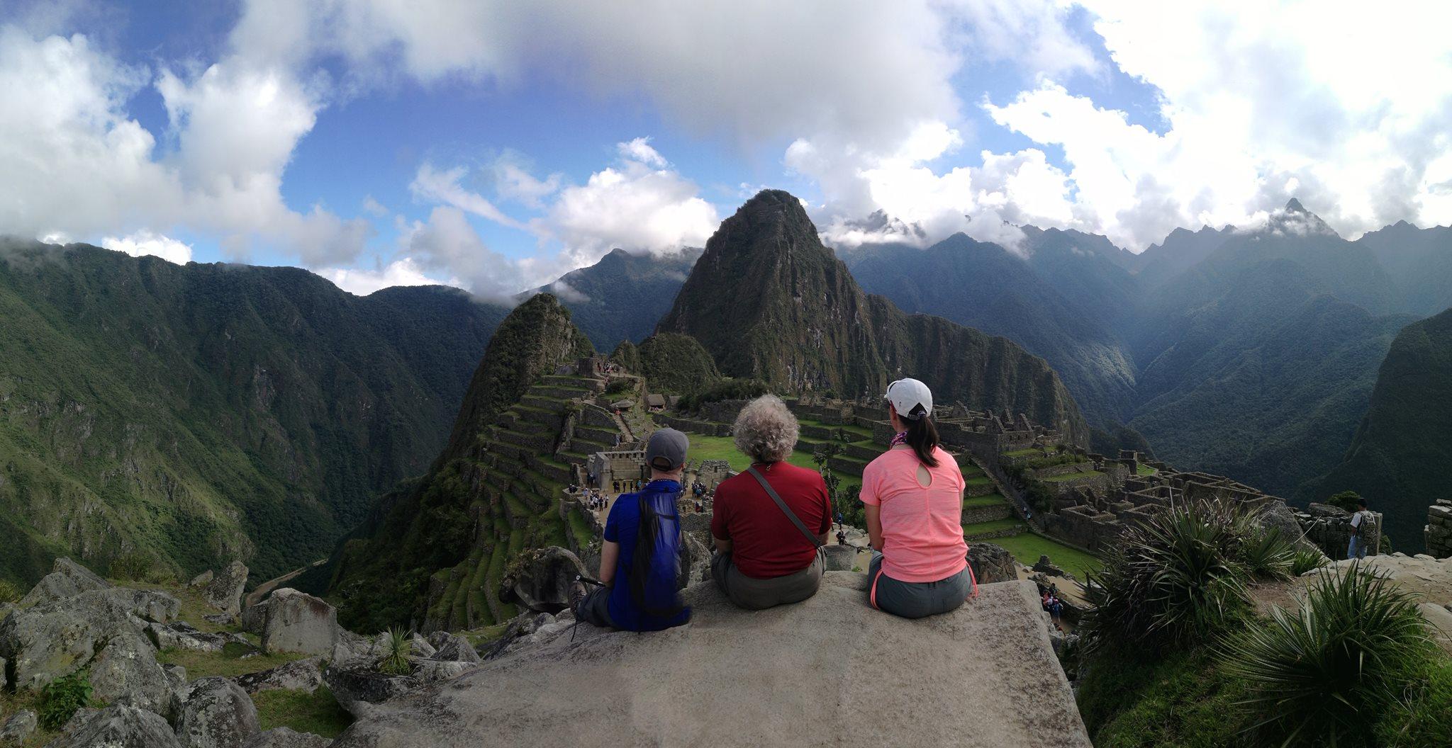 © arrivée Machu Picchu