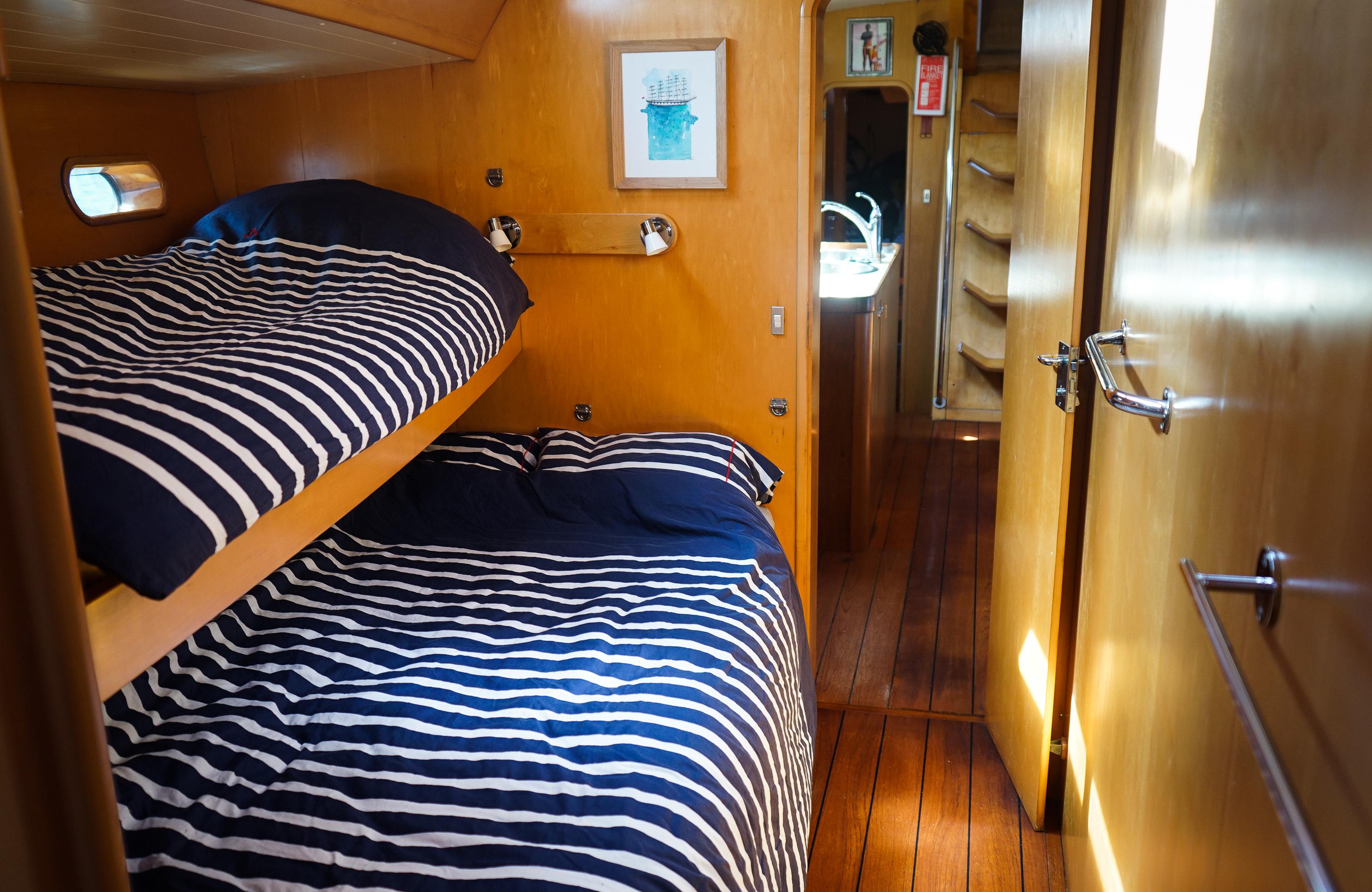intérieur cabine voilier